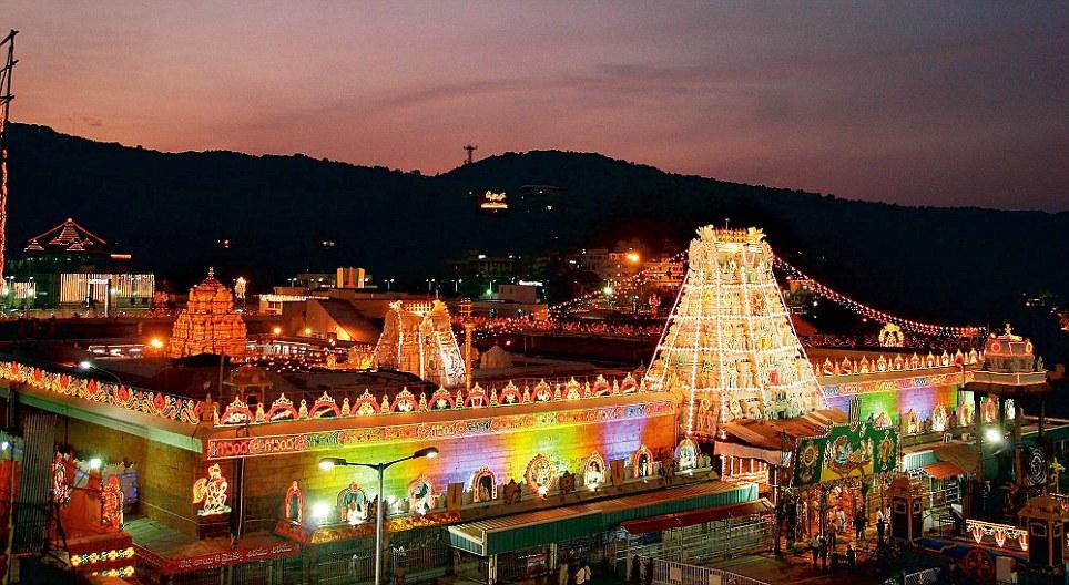 Full day car rental charges from Tirupati to Tirumala darshan